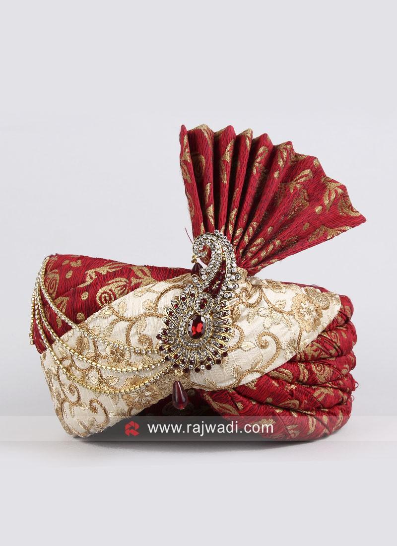 Groom Art Silk Fabric Turban