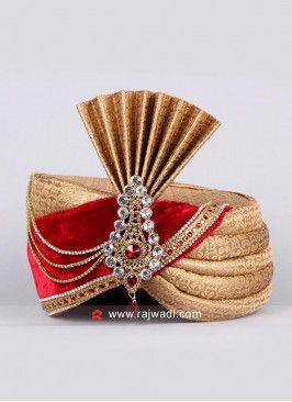 Groom Brocade Fabric Turban