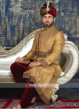 Groom Brocade Silk Sherwani