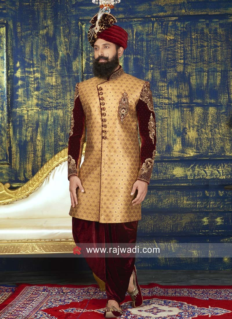 Groom Brocade Silk Sherwani