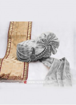 Groom Cream Color Dupatta