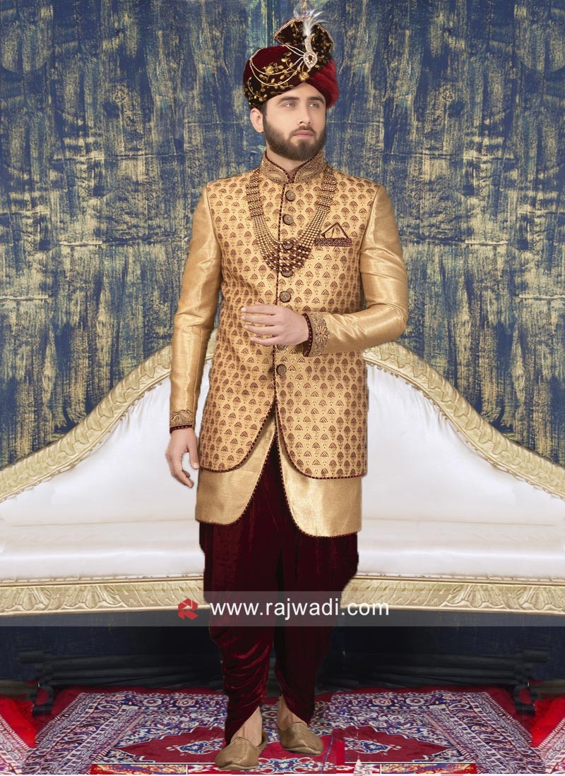 Groom Golden Color Indo Western