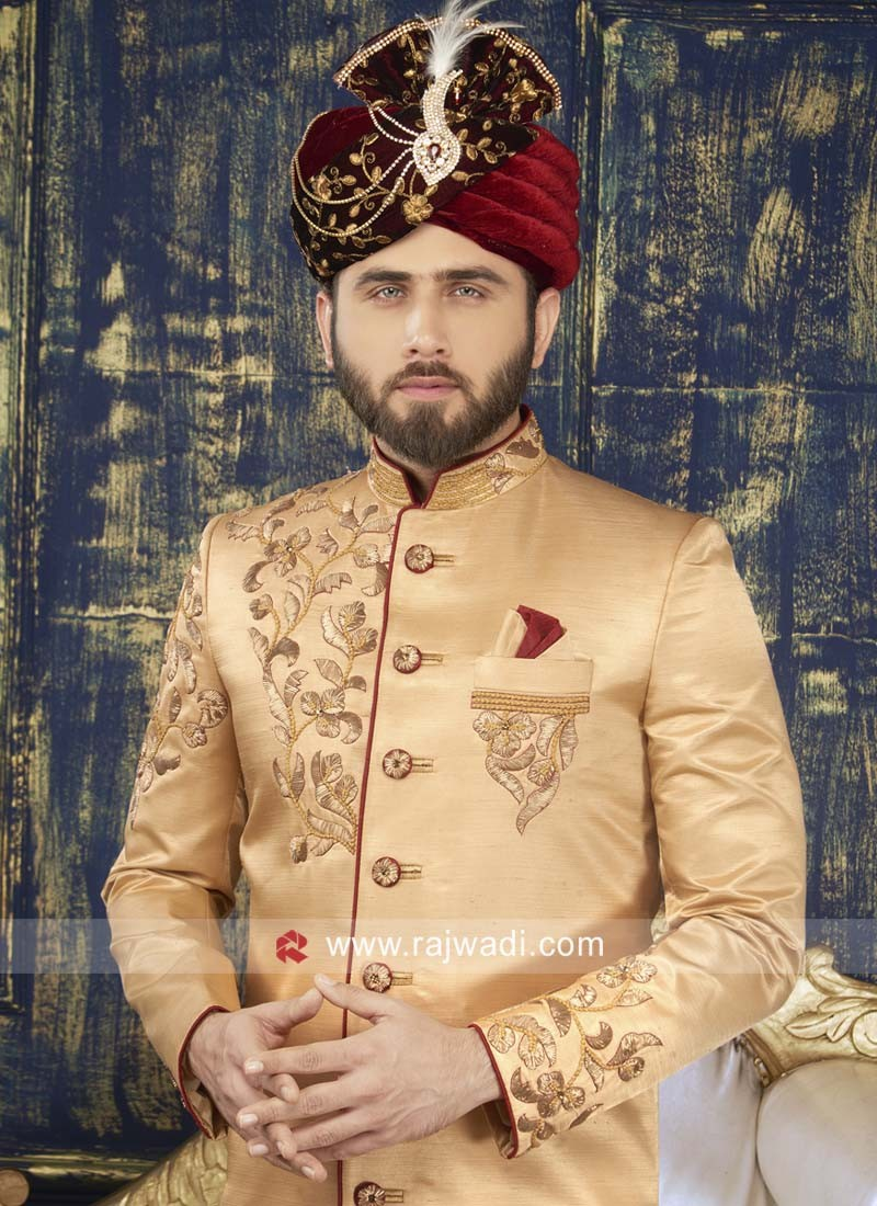 Groom Golden Color Indo Western