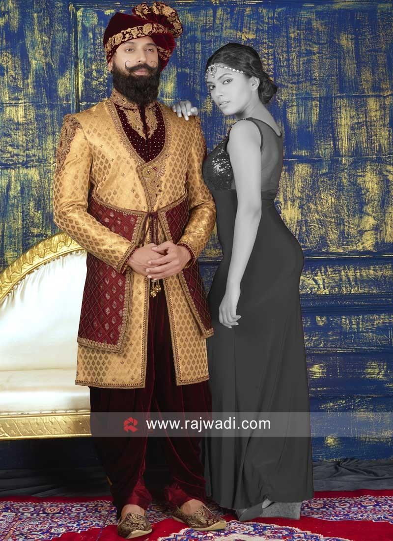 Groom Golden Indo Western