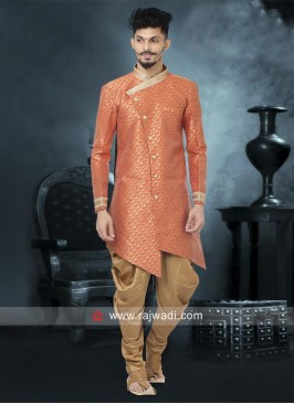 Charming Orange Color Indo Western
