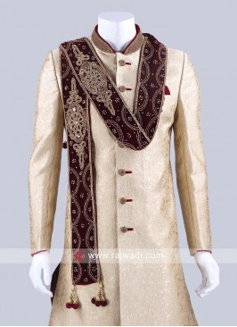 Groom Maroon Color Dupatta
