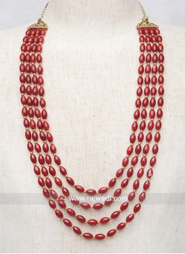 Groom Red Pearl Mala