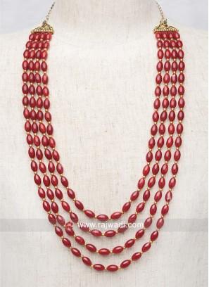 Groom Red Pearl Mala