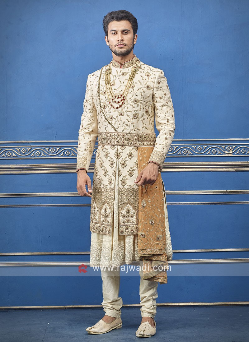 Groom Silk  Sherwani