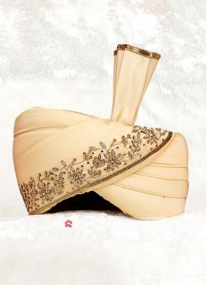 Groom Turban In Golden Color