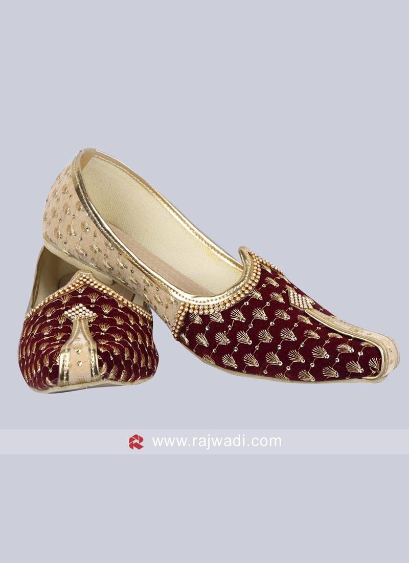 Groom Velvet Fabric Mojari