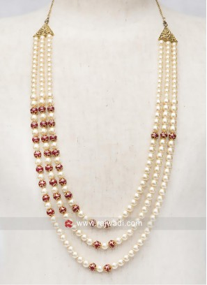 Groom Golden Cream Color Mens Mala