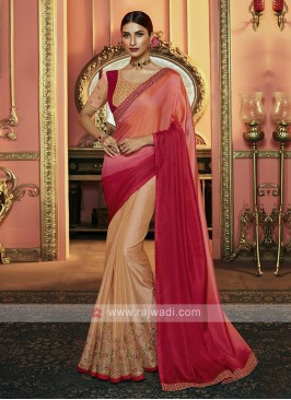 Half And Half Shaded Saree