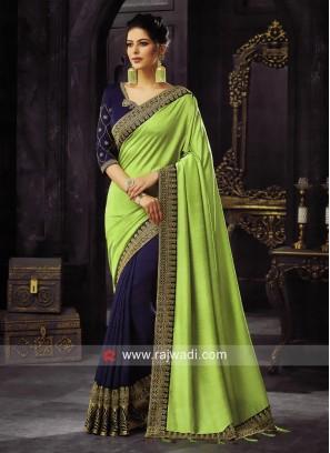 Half n Half Art Silk Saree