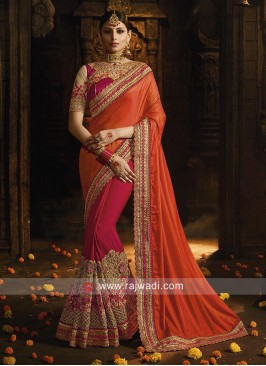 Half n Half Saree in Art Silk