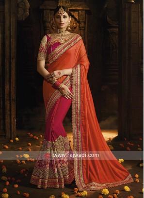 Half n Half Saree in Art Silk