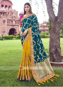 Half n Half Saree in Banarasi Silk