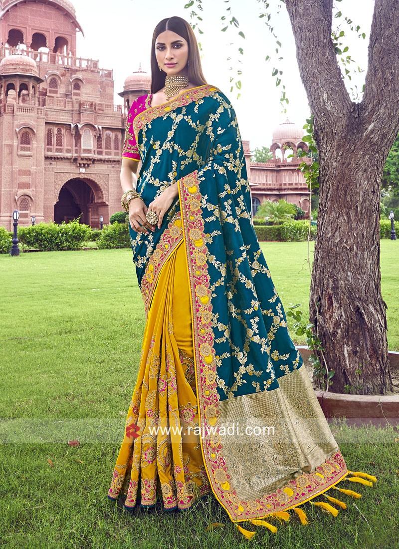 Half n Half Saree in Banarasi Silk