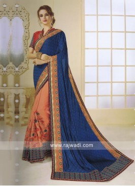 Half n Half Saree with Blouse