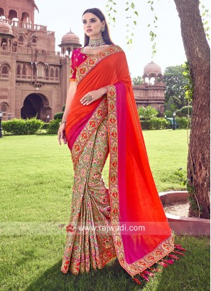 Half n Half Traditional Saree