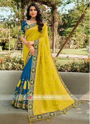 Half N Half Wedding Wear Saree