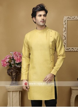 Golden Yellow Kurta For Mens