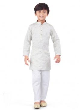 Handloom Cotton Kurta Pajama In Boy