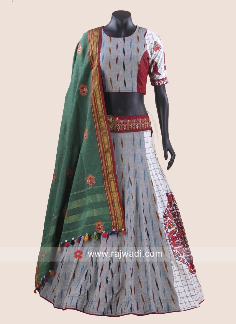 Handloom Cotton Printed Chaniya Choli
