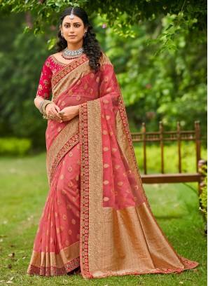 Heavenly Pink Festival Traditional Designer Saree