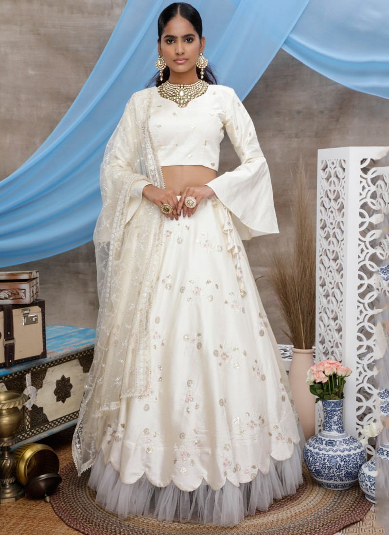 Heavenly Off-White Designer Lehenga Choli