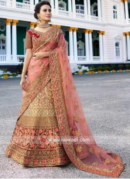 Heavy embroidered A Line Lehenga