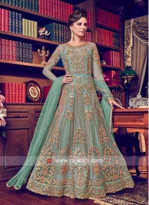 Heavy Embroidered Anarkali Salwar Kameez