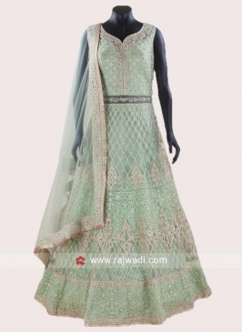 Heavy Embroidered Anarkali Salwar Suit