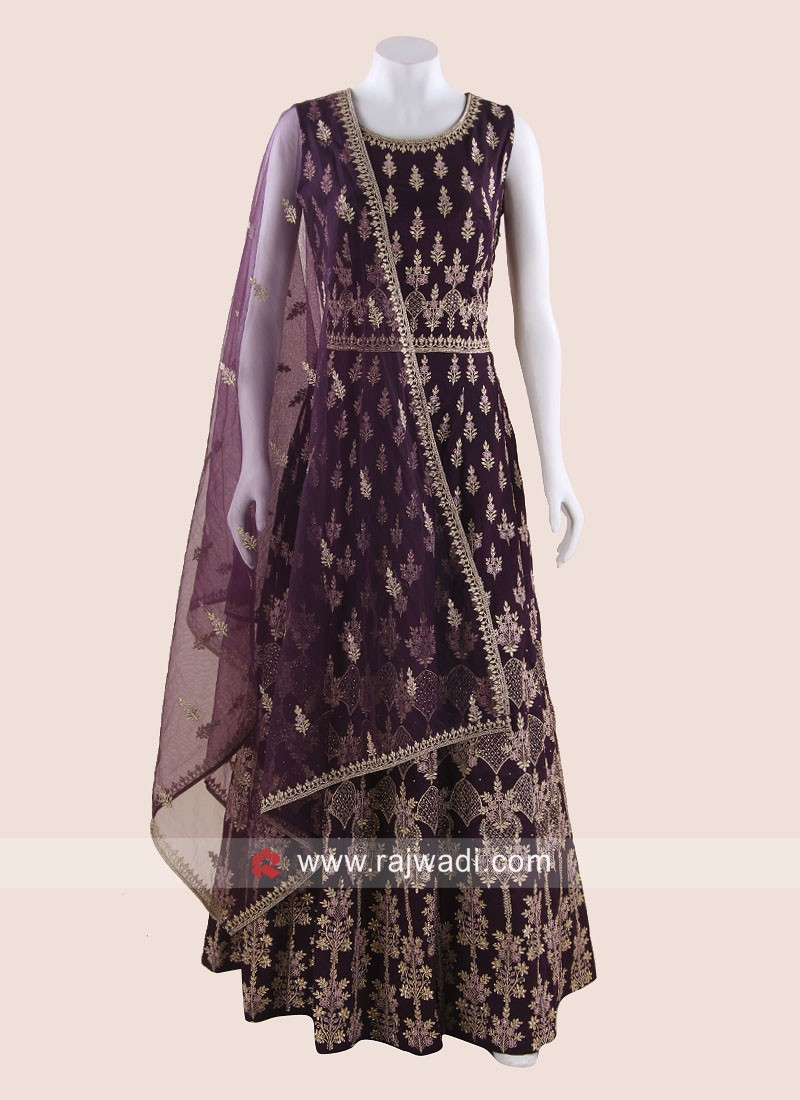 Heavy Embroidered Anarkali Suit