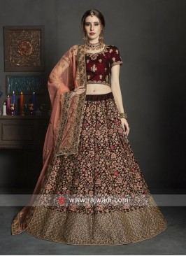 Heavy Embroidered Bridal Lehenga Choli