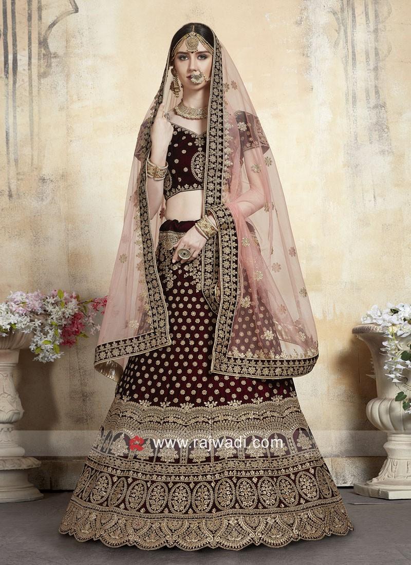 Heavy Embroidered Bridal Lehenga Choli