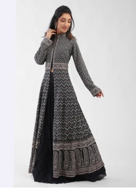 Heavy Embroidered Chiffon Indo-Western