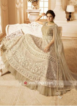 Heavy Embroidered Drashti Dhami Net Salwar Suit