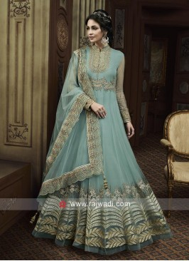 Heavy Embroidered Eid Anarkali Suit