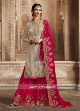 Heavy Embroidered Eid Gharara Salwar Kameez