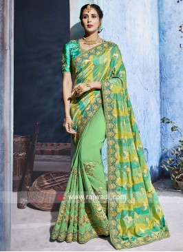Heavy Embroidered Festive Saree