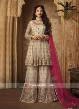 Heavy Embroidered Festive Wear Gharara Suit