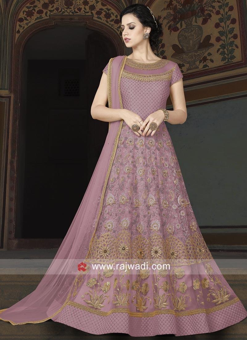 Heavy Embroidered Floor Length Salwar Suit