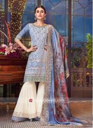 Heavy Embroidered Gharara Salwar Kameez