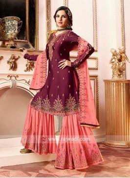 Heavy Embroidered Gharara Suit
