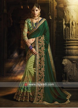 Heavy Embroidered Half n Half Saree