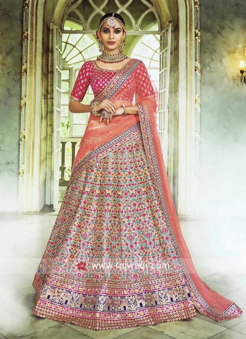 82a39e9f94 Heavy Embroidered Lehenga Choli. Hover to zoom