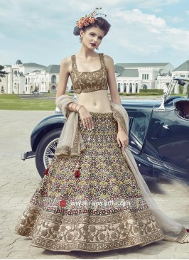 Heavy Embroidered Lehenga Choli in Beige