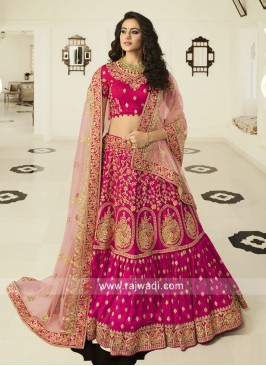 Heavy Embroidered Lehenga Choli in Pink
