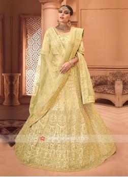Heavy Embroidered Lehenga Choli In Yellow